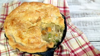 Turkey Pot Pie for Two